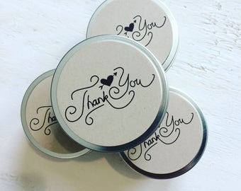 candle thank you gifts for guests / 50 favors for bridal shower / favors for baby shower / guest gift thank you / barn wedding event decor