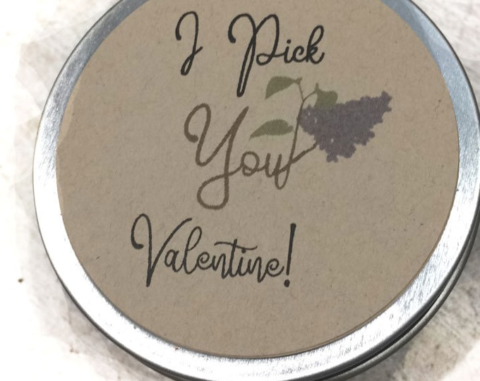 Valentine candle / lilac candle / lilac valentine /  Valentine gifts I pick you / gifts Valentines day  friendship business candle gifts