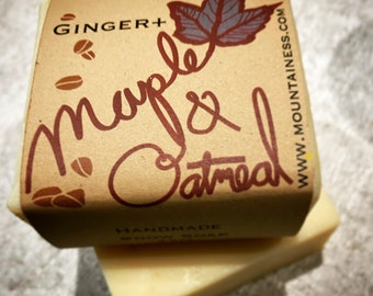 organic maine made ginger maple oatmeal soap / oatmeal soap / mens soap / gifts ideas for men / unique mens gift / mens grooming / him / dad