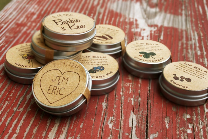 Wedding Favors Custom Lip Balm Wedding Favor Organic Lip Etsy
