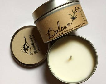 Balsam soy candle /  fir scented candle / christmas candle / holiday candle / christmas  gift  /  balsam wreath / secret santa gift /