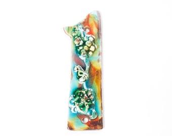 Ceramic Handmade House Number '1' Coral Reef