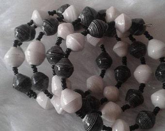 Black & White Stacked Bangle