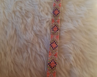 Hand Woven, Pink, Seed Beaded, Lightweight Pretty Bracelet
