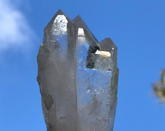 Double Terminated Quartz Crystal cluster slightly bent