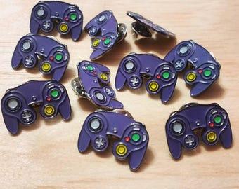 nintendo gamecube controller enamel lapel pin super smash etsy