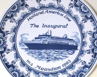 Vintage Holland America  S.S Statendam Cruise Ship Melamine Tip Tray