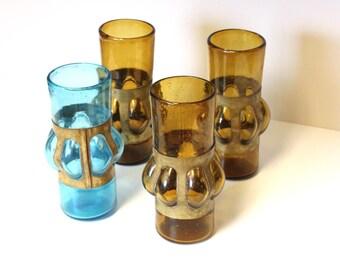 Mid Century Filipe Derflingher Imprisoned  Brutalist Caged Shot Glasses Set of 4