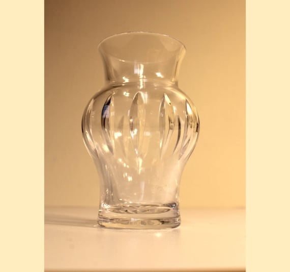 Atlantis Crystal Bud Vase From Portugal With Cut Glass Details Etsy