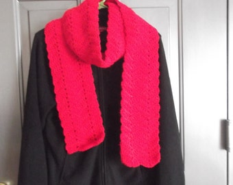 Red Chevron Scarf (A)