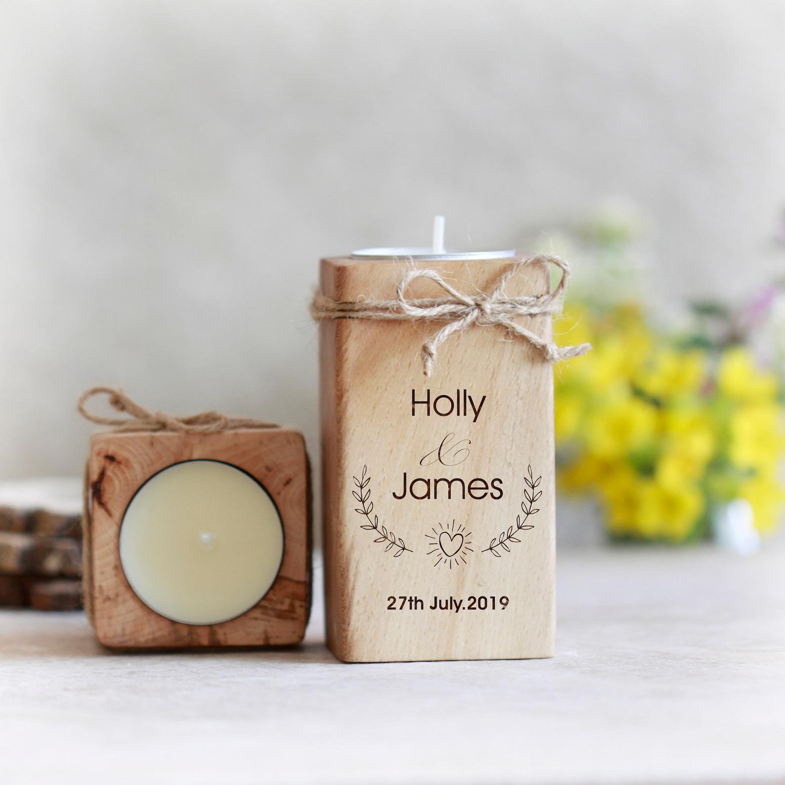 Hochzeitskerze Holz