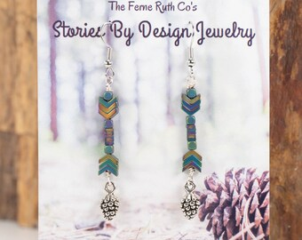 Jewelry with a Story, Hematite earrings, MULTIPLE COLORS-check out all pictures