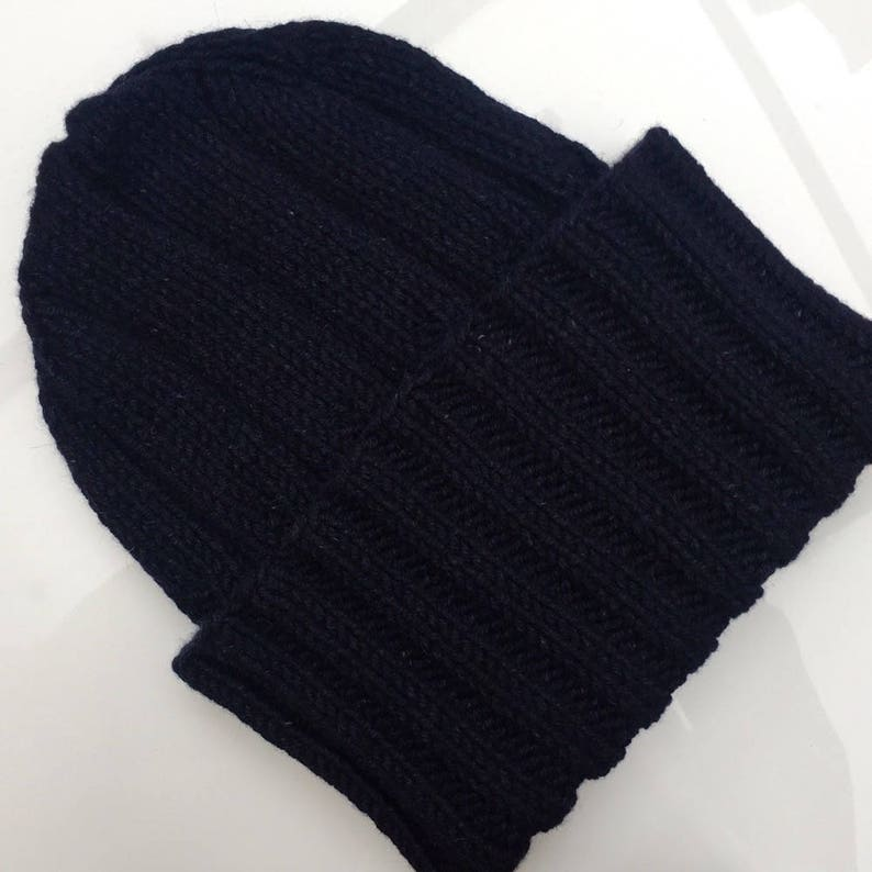 b8cc703e021 Cashmere Lambswool Mens Chunky Hat WWII Watch Cap   Beanie Hat
