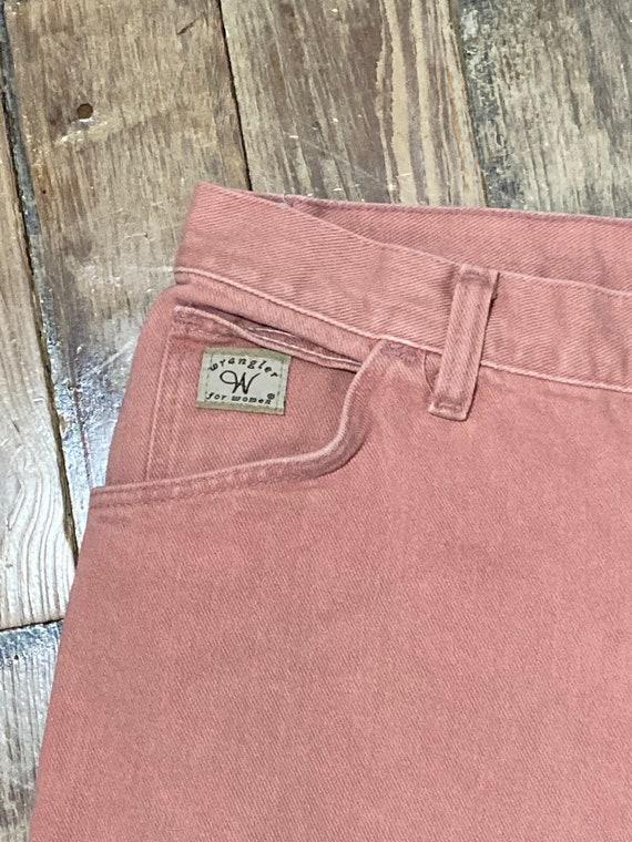 Pink wrangler jeans - image 2