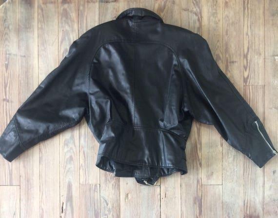 Leather motorcycle jacket - image 6