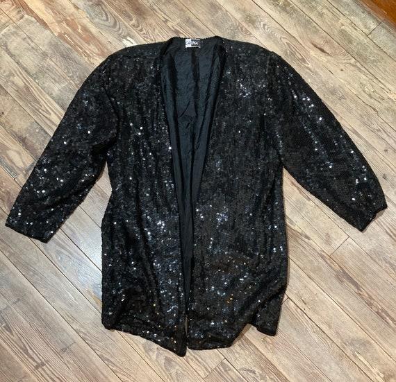 Oversized sequins blazer