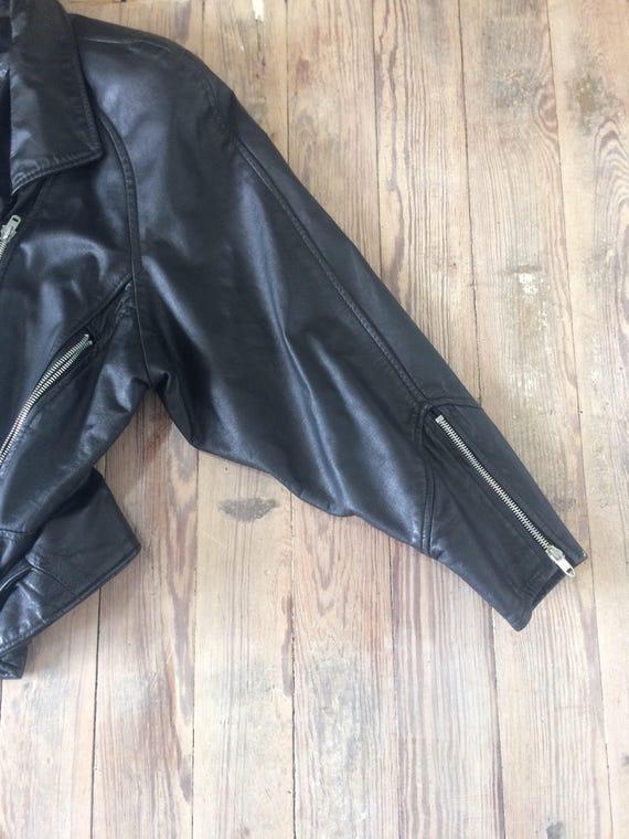 Leather motorcycle jacket - image 3
