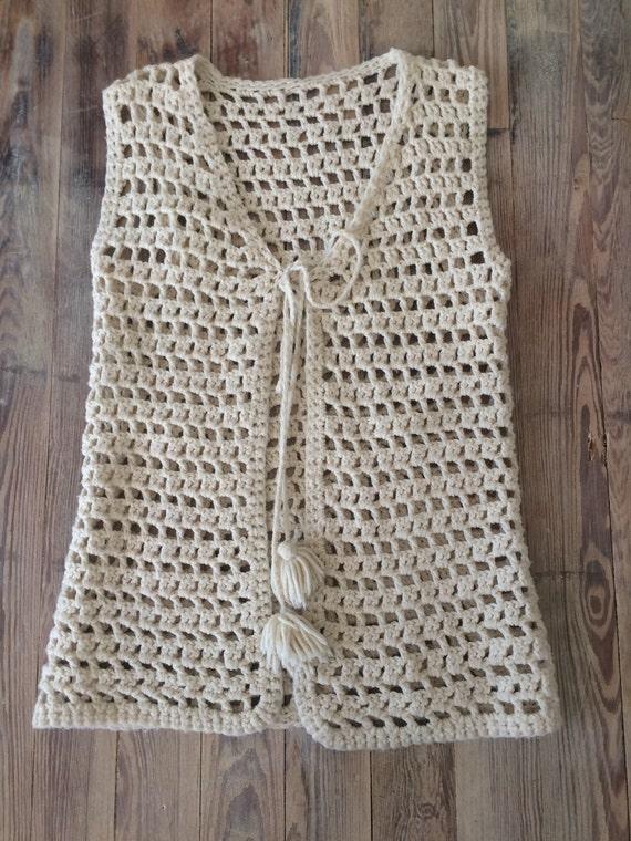 Crochet sweater vest - image 1