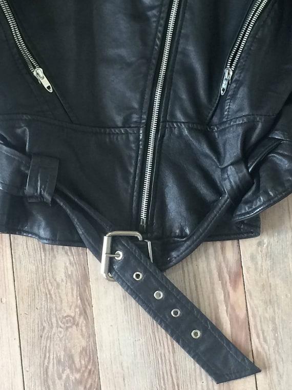 Leather motorcycle jacket - image 2