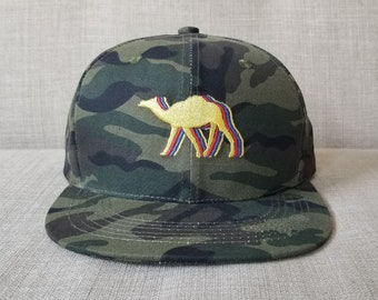 3aaafb416ac Camel Snapback Hat   Camouflage Cotton with Pollen Yellow Camel