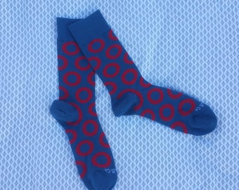 Fishman Donut Dress Socks