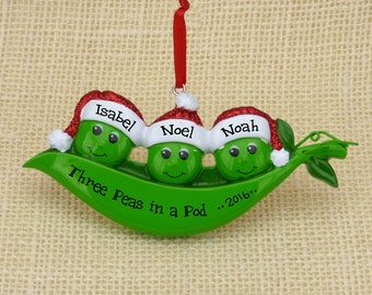 Three  Peas In A Pod Magnet ~ Triplets or Family Of 3