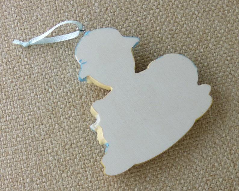 Hand Personalized Ornament Blue Beach Baby Personalized Ornament Baby/'s First or Second Christmas Baby Boy First Swim