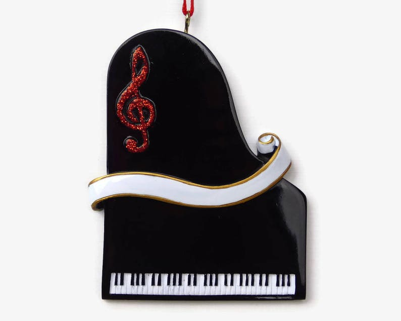 Music Lover Piano Personalized Ornament Hand Personalized Christmas Ornament
