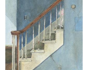 "Ltd Ed. Giclee Print of Original M. Cummins Watercolor: ""Goodnight, Sweet Princess"""