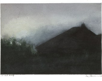 "Ltd Ed. Giclee Print of Original M. Cummins Watercolor: ""Mary's Place"""
