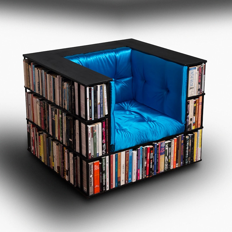 Luxury Club Library Bookcase Chair  Made to Order image 0