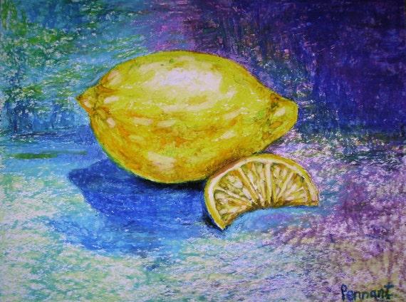 Oil Pastel Fruit Art Drawing