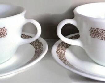 Pyrex Woodland Brown Mugs