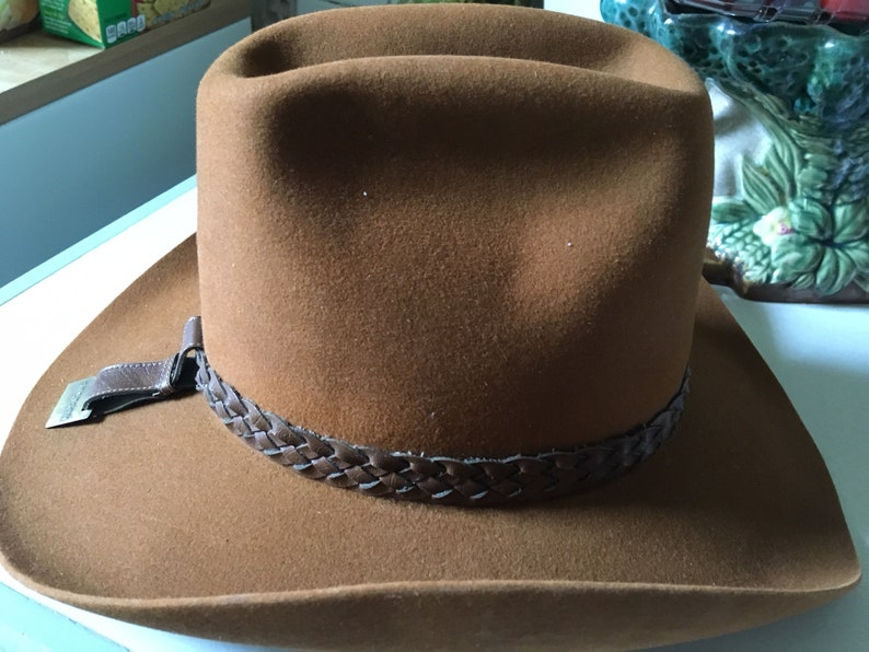 VINTAGE STETSON COWBOY Hat, Vintage Stetson Hat, Vintage Cowboy Hat, Vitage  Rust Cowboy Hat, Cowboy Hat with Leather Band, Stetson Hat