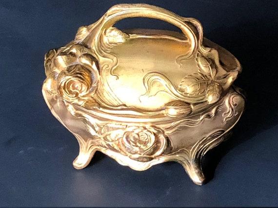 ANTIQUE JEWELRY CASKET, Art Nouveau Jewelry Casket