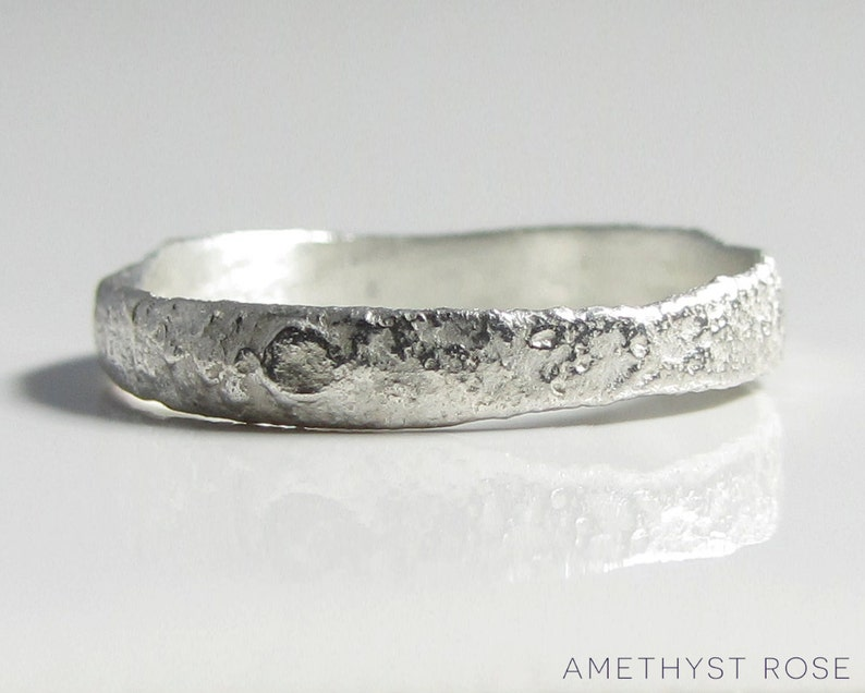 Moonscape Ring  Sterling Silver Ring 925  Unique Handmade image 0