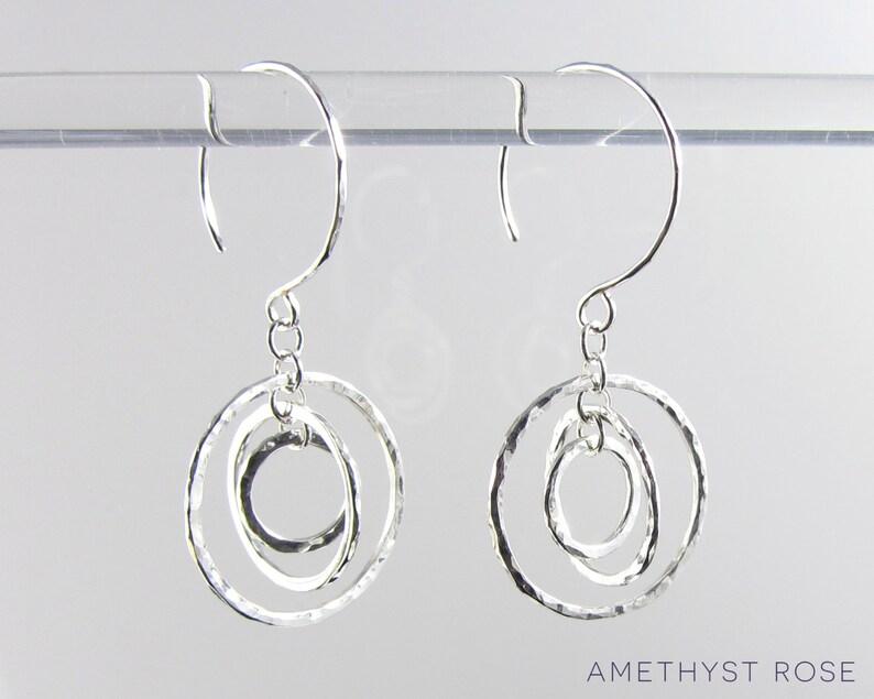 Spinning Orbits Earrings  Sterling Silver Dangle Earrings  image 0