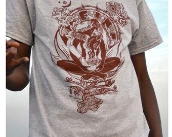 Spirituel indien amoureux [Mens T-Shirt] - imprimé en sérigraphie