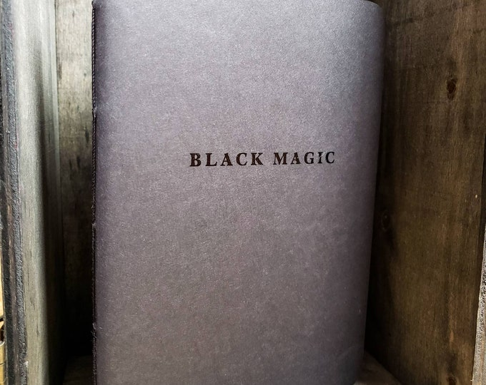 Featured listing image: Black Magic Notebook