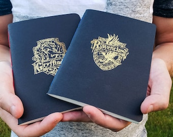 Hogwarts House Handmade Notebook