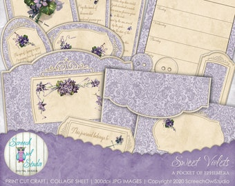 Tags Witches Garden Victorian Witch Digital Art Collage Print Instant Digital Download Cards Scrapbooking #2 Journal