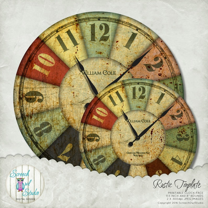 photo relating to Printable Clock Faces for Crafts named Clock Deal with, Rustic Steel Clock Encounter, Craft Components, Decoupage, Quick Down load, Printable Clock Deal with