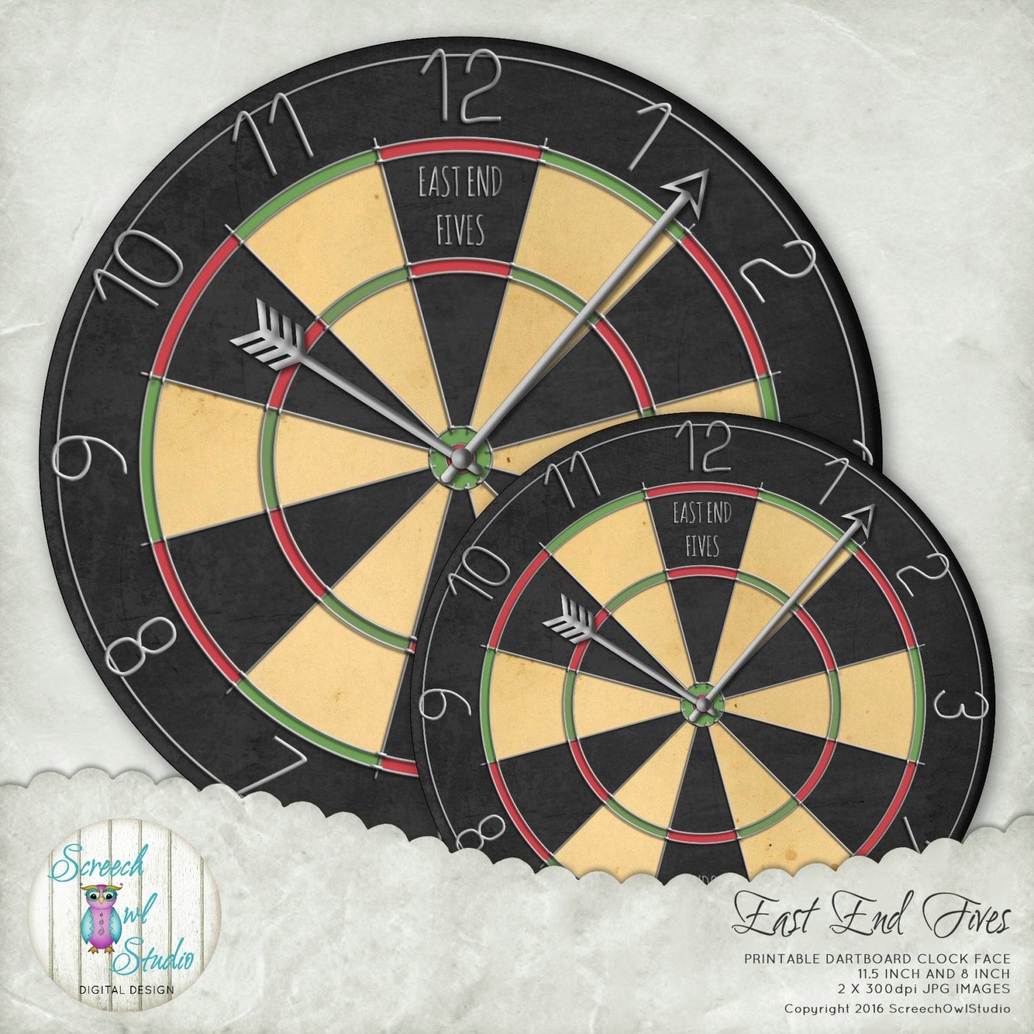 graphic about Printable Dart Board named SALE - Clock Deal with, Dartboard Clock, Typical Dartboard, Darts, Dart Board, Pub Decor, Printable Paper Craft Components - East Stop Fives