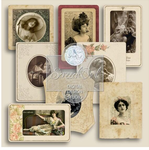 Journal Ephemera Collage Sheet Scrapbooking Digital Photo | Etsy
