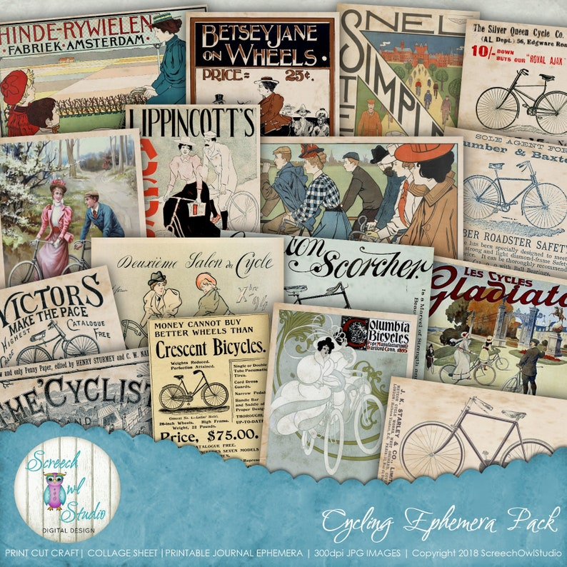 photo relating to Free Printable Ephemera named Collage Sheet, Printable Magazine Ephemera, Common Ads, Journaling, Paper Craft Elements, Junk Magazine - Biking Ephemera