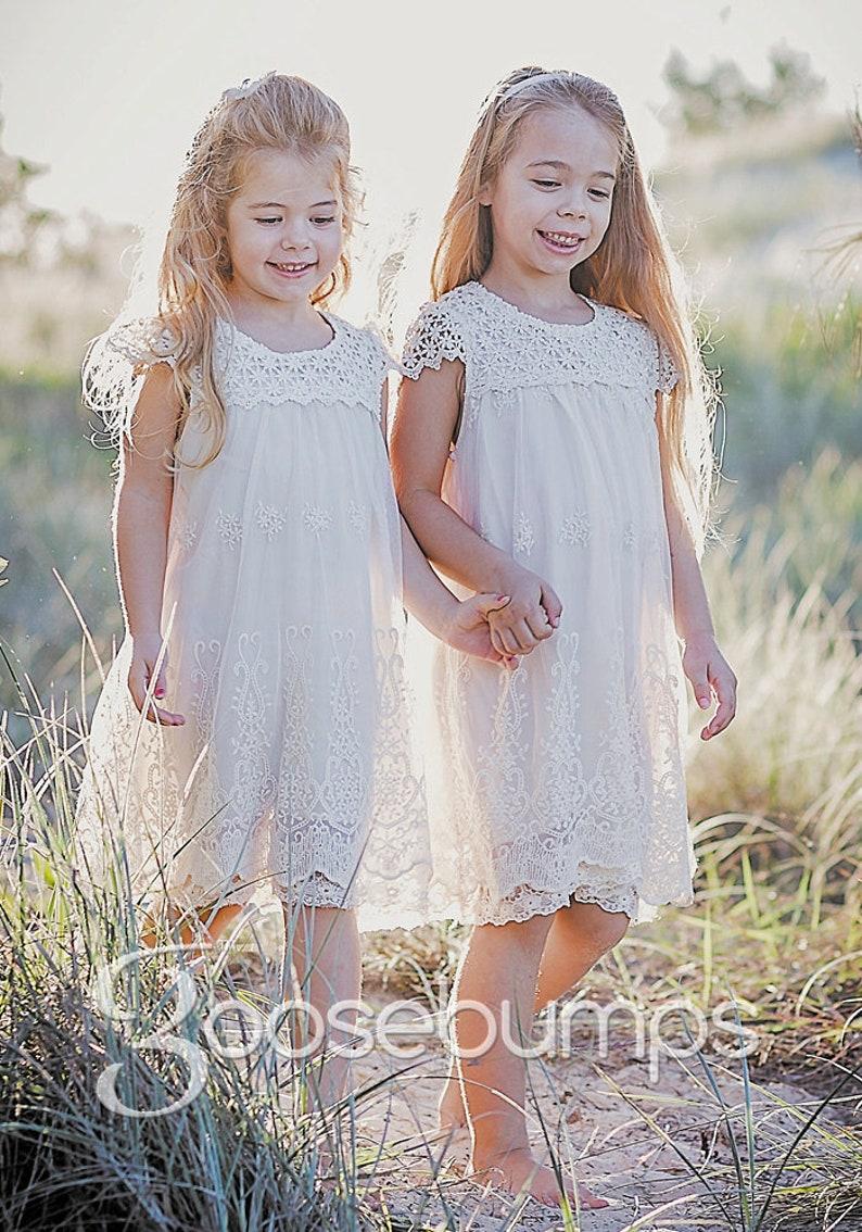 e88beea2f Macy Vintage White or Ivory Bridal Flower Girl Communion
