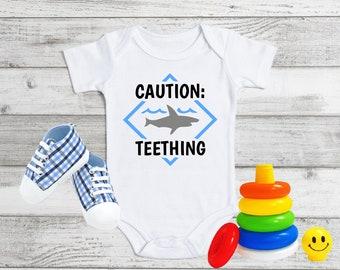 Teething Onesie Caution