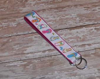 Flip Flops - Wristlet Key Fob- Key Chain