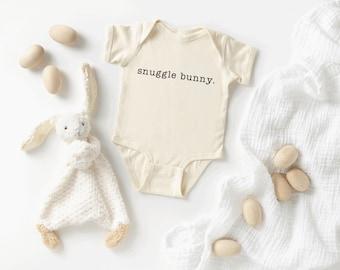 Blue Snuggle Bunny Easter Onesie\u00ae Bodysuit Adorable Cute Bunny Funny Handmade Easter Onesie\u00ae Bodysuit