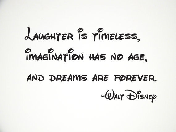 Disney Wall Decal Quote Vinyl Lettering Dreams Laughter Is